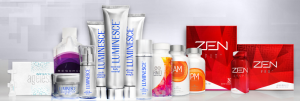 A display of Jeunesse products.