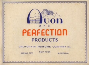 Original Avon advertisement.
