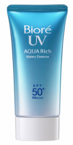 Bioré's aqua rich sunscreen.