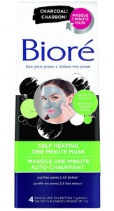 Bioré's self heating one-minute mask.