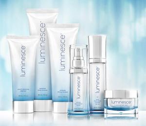 Jeunesse's luminesce skin system products.
