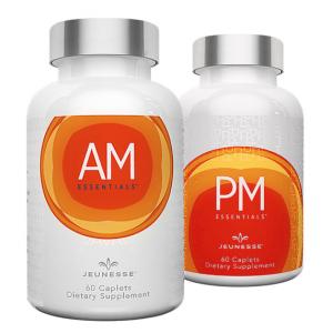Jeunesse's AM & PM essentials dietary supplement.