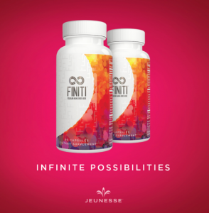 Jeunesse's finiti fruit and vegetable extracts.