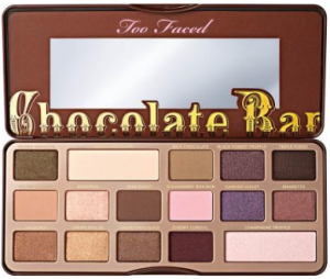 Too Faced chocolate bar eye shadow.
