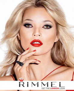 Rimmel advert with Kate Moss