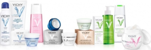 Display of Vichy laboratories products.