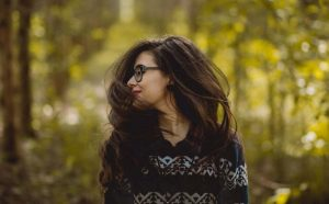 woman hair in nature