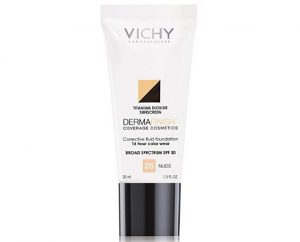 Vichy's foundation, dermafinish line.