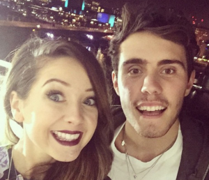 Zoella and her boyfriend