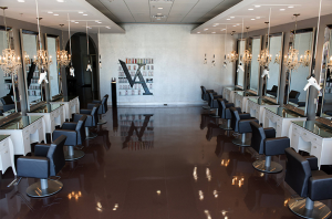 The interior of Oribe salon