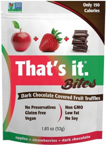Vegan chocolate fruit snacks