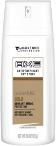 Axe body antiperspirant spray