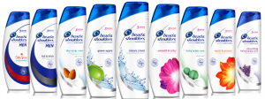 Head and Shoulders shampoo and conditioners