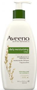 Bottle of Aveeno lotion