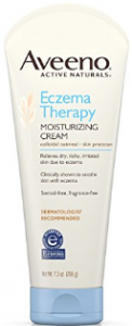 Tube of Aveeno eczema cream