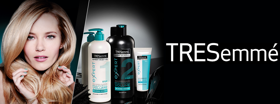 Tresemme ad with woman with blond hair