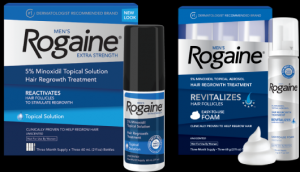 Rogain hair foam