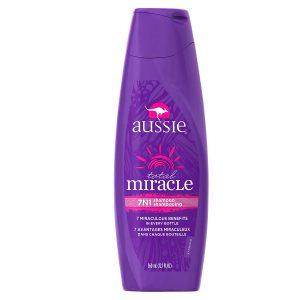 Bottle of Aussie shampoo/conditioner