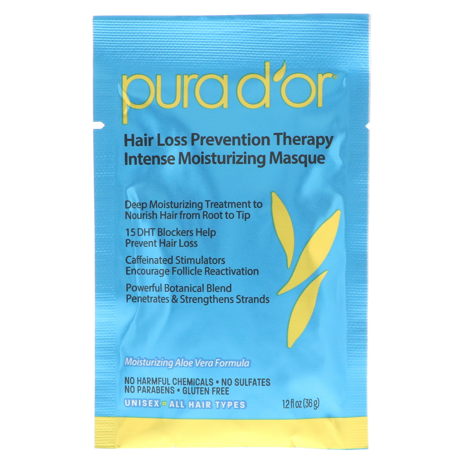 Pura D'Or Hair Mask packet