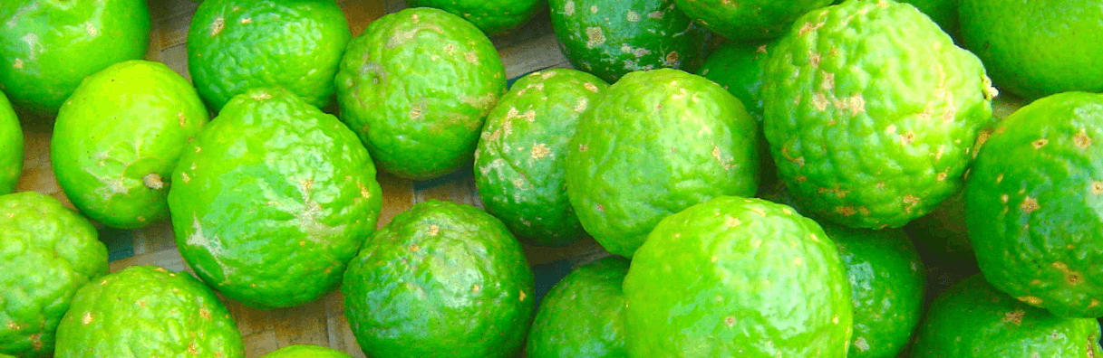 A bunch of bergamot fruit