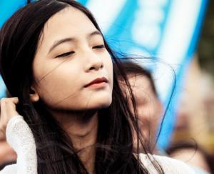 Asian girl with long black hair