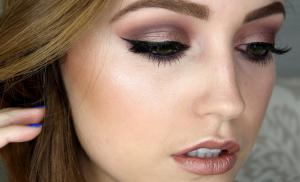 Woman with makeup.