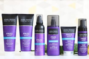 John Frieda's frizz ease products.