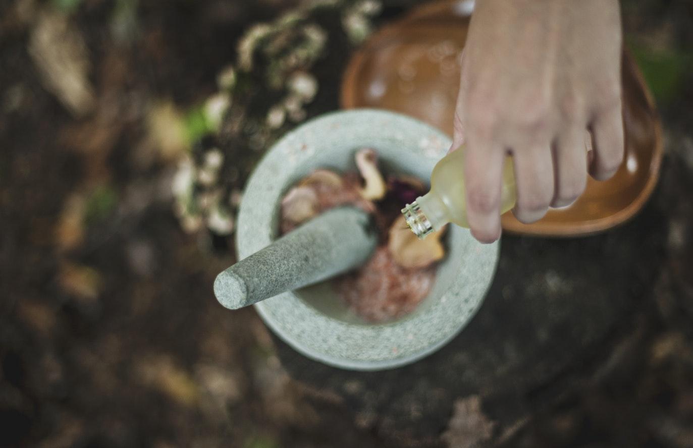 Frankincense in bowl.