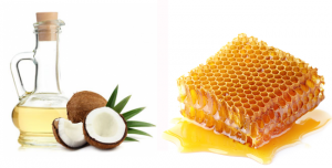 Coconut oil and honeycomb.