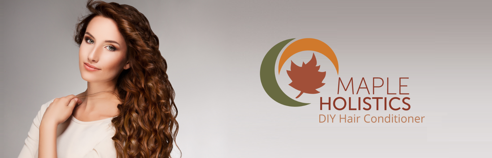 Maple Holistics conditioner promotional banner.