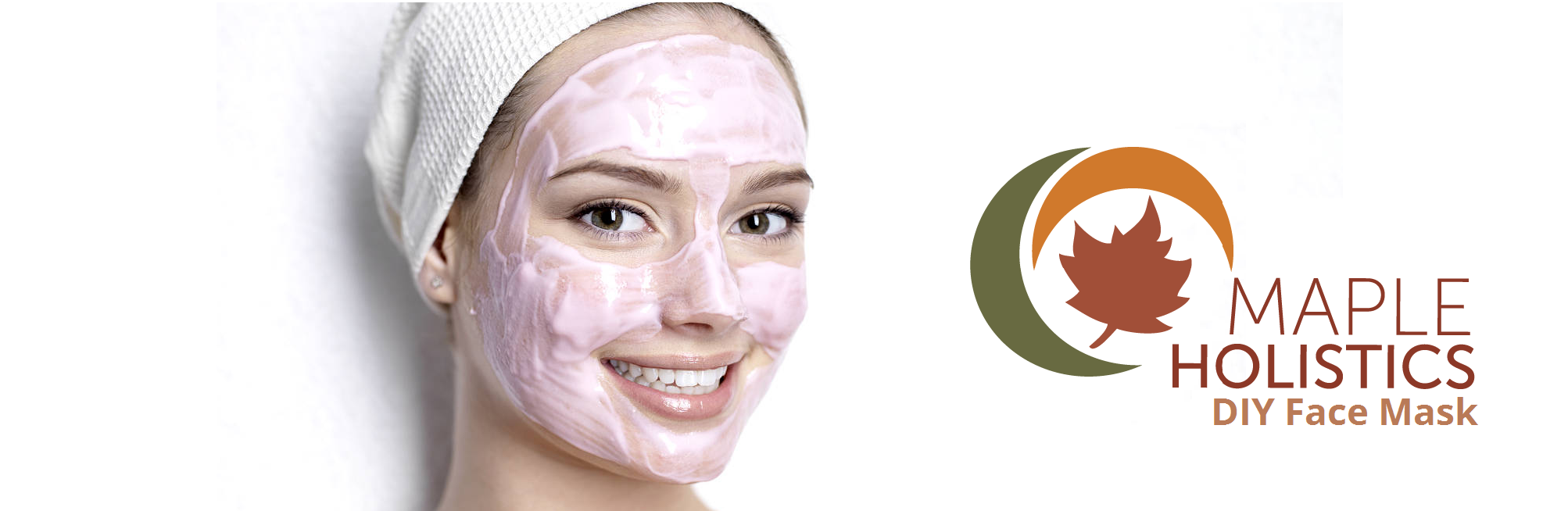 Woman with pink face mask.