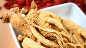 Ginseng root in bowl.