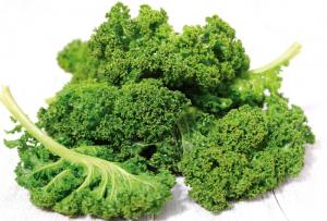 Kale leaves.