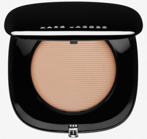 Open compact powder package.