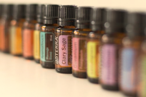 Essential oils in a row.