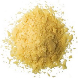 Pile of powdered yellow wax.