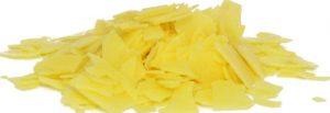 Yellow wax flakes.