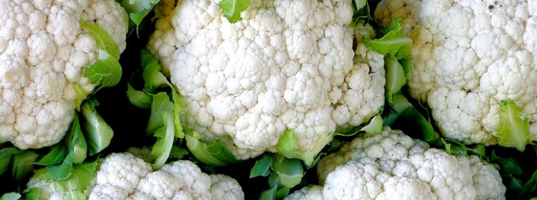Close up of cauliflowers.