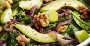 Avocado and walnut salad.