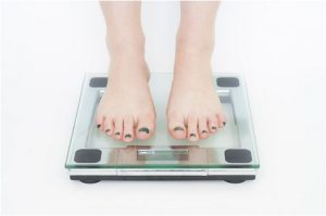 Feet on scales.