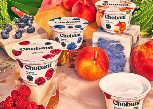 Chobani yogurts.