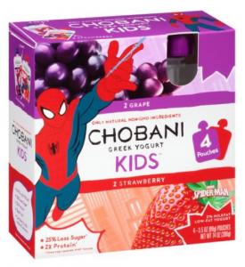 Chobani yogurt drink for kids packaging.