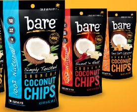 Bare Snacks Coconut Chips packaging.