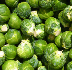 Brussels sprouts in pile.
