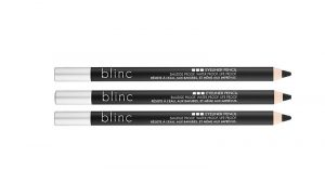 Three eyeliner pencils in a row.