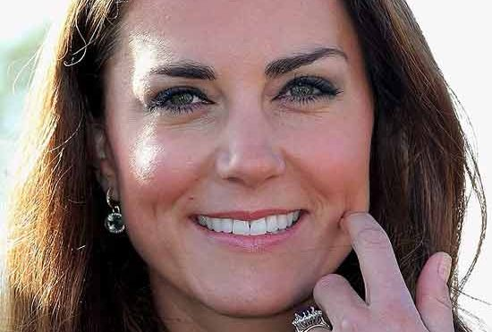 Kate middleton smiling.