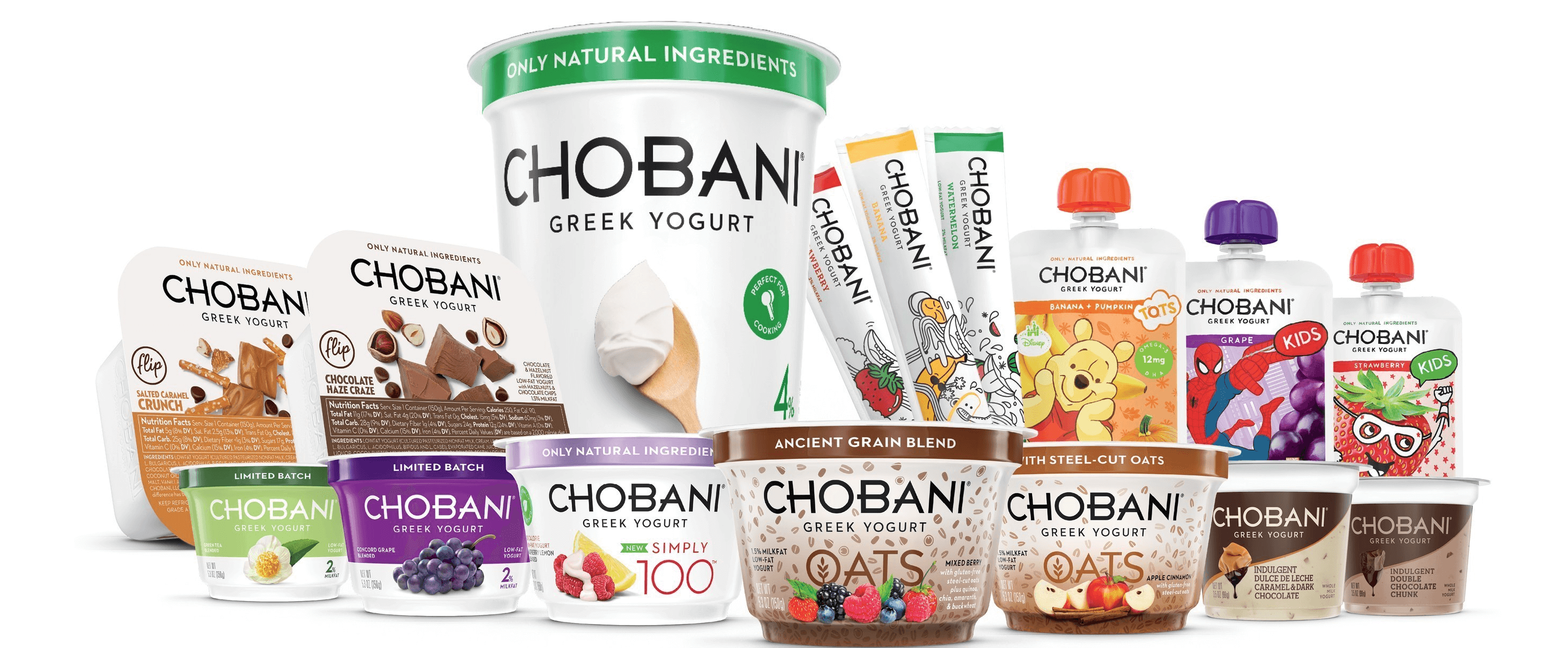 Chobani products.