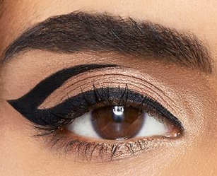 Close up of eye with eyeliner on.