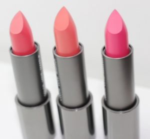 Zoeva lipsticks in three shades.