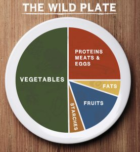 A Diagram of what a wild diet plate should look like.